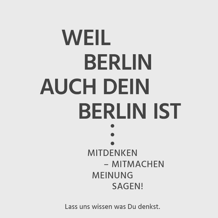 HIER - Weil Berlin auch Dein Berlin ist